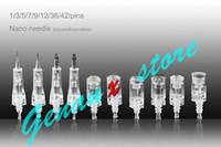 dermapen damgası 12 iğne toptan satış-1/3/5/7/9/12/36 iğneler Otomatik Derma kalem İğne Kartuş için Mikro İğne Damga Kalem İğne Kartuş Dermapen İğneler