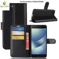 Wholesale litchi phone case - For Asus zenfone 4 MAX ZC520KL Litchi lychee wallet leather TPU phone cover Case card holder For Asus zenfone MAX ZC550KL