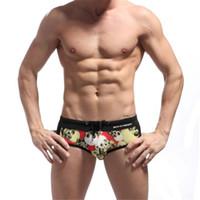 Wholesale Sexy Men Wearing Swimming Shorts - Wholesale-Sexy Men's Skull Print Swimwear,Men Swimsuits Swimming Wear,Swimming Briefs Beach Sea Summer Wear Shorts