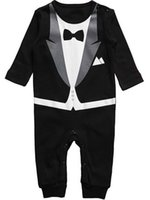 Wholesale french clothing sizes online - 2016 spring and summer new style baby boy gentleman Climb clothes baby s Romoers kids one piece garment children s jumpsuits