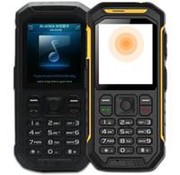 Wholesale Gsm Waterproof Rugged - X6 PTT military standard Mobile Phone waterproof IP68 dustproof 2.4 Inch Dual SIM GSM Walkie Talkie rugged phone with torch LED