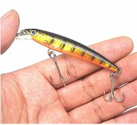 Wholesale Minow Bait - 1Pcs minow Fishing Lure 7.5cm 5.6g Artificial Baits 3D Fish Eye minow Lures Fake Bait High Simulation Swim Crank bait YR-318