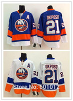 1992f1d7b9b Men s New York Islanders Hockey Jerseys 21 Kyle Okposo Jersey Home Royal  Blue Road White Cheap Authentic Stitched Jersey