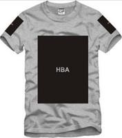 Wholesale X Men Long Sleeve T Shirt - Free shipping Chinese Size S--3XL 2014 summer t shirt Hood By Air HBA X Been Trill Kanye blank print Hba tee men tshirts 5 color 100% cotton