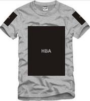 trill t-shirts großhandel-Freies Verschiffen chinesische Größe S - 3XL 2014 Sommert-shirt Haube durch Luft HBA X Trill Kanye freier Raum druckte Hba T-Stück Männer T-Shirts 5 Farbe 100% Baumwolle