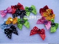 Wholesale Free Ribbon Crafts - Free shipping Christmas DIY crafts,DIY accessories,3 cm Ribbon flowers,lace flower,printing ribbon bow,drill adornment iris
