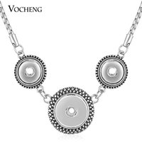 Wholesale 12mm Pendant - VOCHENG NOOSA Combo Necklace Ginger Snap Jewelry for 18mm and 12mm Button NN-519