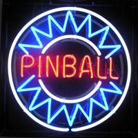 Wholesale Pinball Light - blue pinball neon sign real glass tube display beer bar handicraft signs light CLUB store