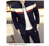 Wholesale Korean Men Jacket Luxury - Wholesale- New Winter Korean Slim Fitness Jacket Design High Quality Coat Long Sleeve Zipper Mens Jacket Casual Luxury Male Outerwear Tops