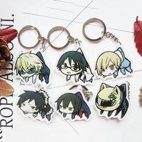 Wholesale Izaya Figure - Anime 6pcs Anime Anime Durarara 3way standoff DRRR Orihara Izaya Cosplay Costume Cute DIY acrylic Keychain Pendant Keyring Collectible Gift