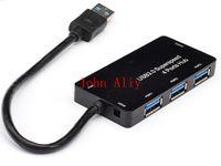 Wholesale Slim Port Usb Hub - Useful Micro USB HUB 3.0 Super Speed 5Gbps 4 Port Ultra Slim USB 3.0 HUB USB Splitter Computer Periphearls For PC Laptop Notebook