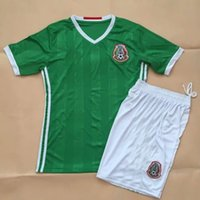 Wholesale Wholesale Thai Quality Soccer Uniforms - DHL Free Shipping! Thai B quality, 2016 America Cup Soccer Jersey Mexico Green Chicharito Layun Jerseys Uniform,Shirt and Short