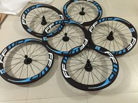 Wholesale 14 Inch Blue Bike - Blue FFWD Carbon Wheels Road Bicycle Full Carbon Wheelset Rear and Front Wheelset 60mm 700C 3K Weave Carbon Bike Parts