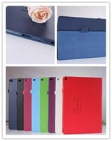 Wholesale ipad book cases resale online - PU Magnetic Litchi Book Leather Smart Case Cover With Stand For Apple ipad Pro Samsung Galaxy tab S2 E A T330 T350 T560