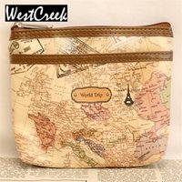 Wholesale Map Pattern Pu Leather - Wholesale- 3D World Map Pattern Two Layer Zipper Coin Purse Small Wallets Small Change Purse Wholesale Lot PU Leather Money Bags
