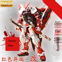 Wholesale Pvc Figure Gundam - Daban Model MG Gundam Astray Red Frame MBF-P02 KAI 1 100 Japanese anime assembled Kits PVC Action Figures robots kids toys