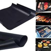 Wholesale Heating Charcoal - Non-Stick BBQ Grill Mat 2mm Thick Durable 33*40cm Reusable Gas Barbecue Grilling Mat Easy Cleaning Heat Resistant Reversible Hotplate Mats