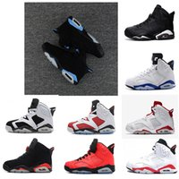 Wholesale Maroon White - Cheap air retro 6 high Oreo Maroon Alternate Hare UNC retro Black Carmine mens basketball shoes sports sneakers size US 7-13