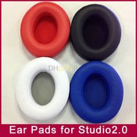 Wholesale Mp4 Covers - Replacement Earpads Foam Pad Cushion Cover Earbuds for Studio2.0 and STUDIO2 Wireless headphones MP3 MP4 Player Case 5colors Hot!