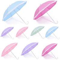 ingrosso mini ombrello di plastica-Dot Printing Ombrello Kawaii Mini Fashion Candy Color Paraguas Con manico in plastica Lovely Umbrellas Many Colors For Children 4 6db BZ