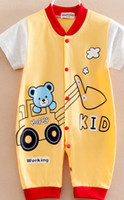 Wholesale China Cheap Baby Clothes - Baby one-piece romper China cheap supply infant clothing 100% cotton