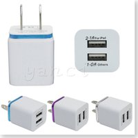 Wholesale Quality Chinese Cell Phones - High Quality US Plug 5V 2.1 1A Dual USB AC USB Charger Wall Power Adapter for ipad iPhone 6S Plus iphone SE Samsung galaxy S7 S6 Cell Phones