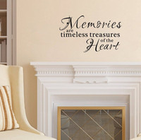 Wholesale memory life - Quotes Wall Decal Memories are Timeless Treasures of the Heart Vinyl Art Lettering Sticker for Room Decor
