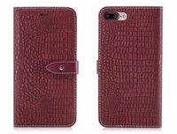 iphone krokodilabdeckung großhandel-Neue flip abdeckung für iphone 6 6s 7 8 x plus case leder luxus alligator leder krokodilleder für iphone6 iphone7 plus case