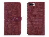 ingrosso iphone6 più tpu caso-New Flip Cover per iPhone 6 6s 7 8 X Plus Custodia in pelle di coccodrillo pelle di coccodrillo di lusso per iPhone6 iPhone7 Plus Custodia