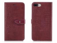 iphone6 plus tpu case al por mayor-Nueva funda con tapa para iPhone 6 6s 7 8 X Funda de cuero de piel de cocodrilo de cuero de cocodrilo de lujo para iPhone6 Funda iPhone7 Plus