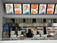 Wholesale a2 light box for sale - Group buy A2 Fast Food Restaurant Menu Display Systems MM Thickness Aluminum Profile LED Illuminated Menu Board Light Box