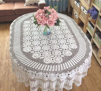 Oval oval tablecloth sizes - Nice gift for Mom Gorgeous crochet pattern tablecloth OVAL huge size table cover crochet Vintage style table linen for home decor