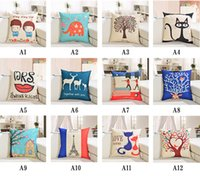 Wholesale Throw Pillow Sale Free Shipping - Free Shipping New Arrival Hot Sale Cotton Throw Pillow Case cushion case,Home sofa by printing pillowcase 45 * 45CM