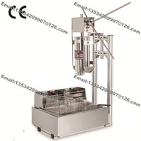 Wholesale Deep Fryer Electric - Free Shipping Commercial Use Manual 5L Spanish Doughnut Churro Maker Machine + 12L 110v 220v Electric Deep Fryer + Churros Filling Machine