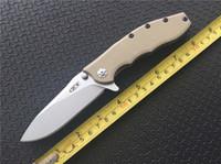 "Wholesale G W - Zero Tolerance 0562 Hinderer Slicer Knife Desert   Black G-10 (3.5"" Stonewash) ZT 9Cr13MOV Flipper Folding blade knife knives w  retail box"