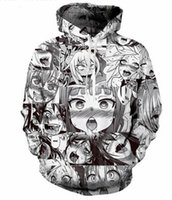 Wholesale Loose Pullovers Sweater - New Fashion Couples Men Women Unisex Anime Ahegao Sexy Girl 3D Print Hoodies Sweater Sweatshirt Jacket Pullover Top S-5XL