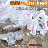 Wholesale Permanent Makeup Tubes - Wholesale- 9MM 100pcs Permanent Makeup Pen Plastic Disposable Tubes trupoint sleeve