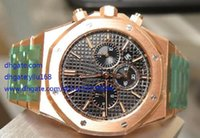 Wholesale Top Swiss Sport Watches - Men's ROYAL Watches Rose Gold Top Factory Maker 26320OR.OO.1220OR.01 Swiss Quartz Mens Watch Chronograph stainless steel WristWatches