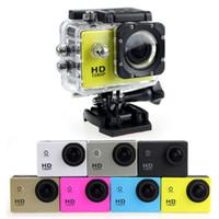 Wholesale Digital Photo Video Camera - SJ4000 1080P Full HD Action Digital Sport Camera 2 Inch Screen Under Waterproof 30M DV Recording Mini Sking Bicycle Photo Video