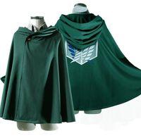 mann capes groihandel-Anime Shingeki kein Kyojin Umhang Cape Kleidung Unisex Coser Umhang Cartoon Kostüme Cosplay Angriff auf Titan Plus Size Männer Frauen neu