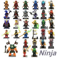 Wholesale Ninja Plastic Building Blocks Toys - Ninja figures marvel super heroes minitoy go building blocks figures bricks toys action figure dhl free OTH027