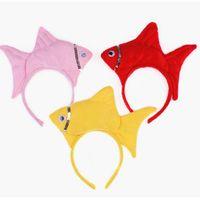 Wholesale Fishing Headwear - Animal Ocean Sea Fish Headband Headdress Party Costume Halloween Headwear Kids Cosplay Props Hair Accessories Decor