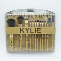 New Arrival KYLIE Beauty 12pcs Brosses de maquillage Set de brosses de visage Fondation BB CC Cream Brush Maquillage Outils DHL Livraison gratuite