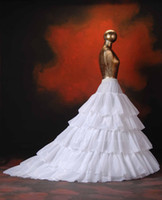 Wholesale Long Dress Petticoat - New Stayle White Ivory 5 Layers Bridal Petticoat Tulle Ball Gown Long Petticoats Wedding Underskirt for Evening Prom Wedding Dress