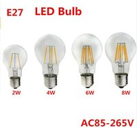Wholesale Edison Led Spot Lamp - NEW Edison Spot LED E27 110V 220V 2W 4W 6W 8W Dimmable Lampada LED Lamp Ampoule LED Filament Light Candle Luz Bulb Chandelier