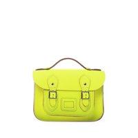 "Wholesale Handbag Neon - uggage Bags Handbags 8.5"" MINI NEON BRITISH GENUINE LEATHER SATCHEL BAG - Women's Vintage Cute Fluro Candy Bright Cross Body Mes..."