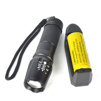 Wholesale Nitecore Flashlights - nitecore flashlight led flashlights 5000LM XM-L T6 LED Tactical Zoomable Flashlight Torch Light Lamp+18650+Charger lights set bicycle