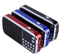 Wholesale Portable Flashlight Radio - L-088 Portable Speaker MP3 Audio Music Player FM Radio Loudspeaker with Flashlight USB AUX TF Slot DHL Free
