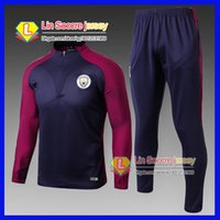 Wholesale Brown Sweat Pants - 2016 tracksuits 2017 18 best quality benfica survetement football Real Madrid training suit sweat top chandal soccer kit football pant