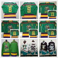 ... Anaheim Ducks Movie Green 1993 Vintage Jerseys 96 Charlie Conway 33  Greg Goldberg 66 Gordon Bombay ... 765e82349